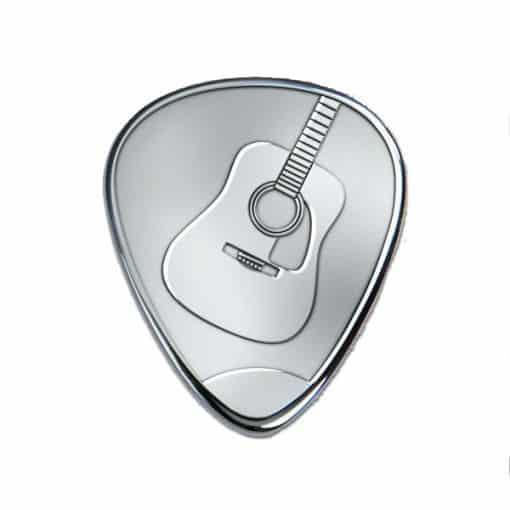 Sélection de guitare en argent gravé