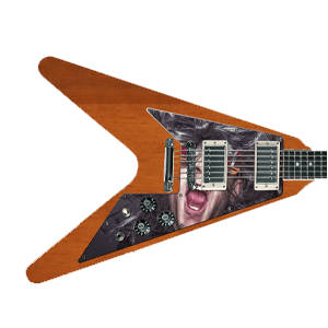 Guitare Pickguard - Imprimé - Flying V